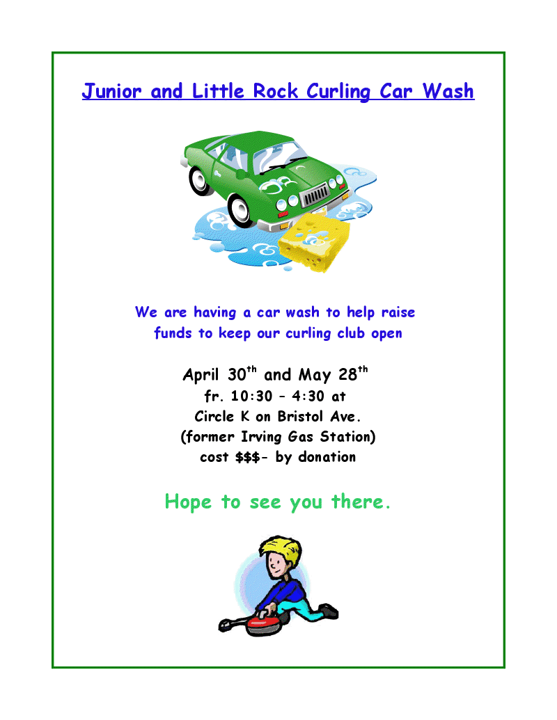 car wash fundraiser flyer template .