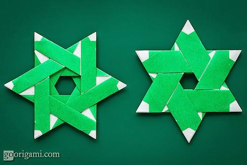 origami shuriken 6 point