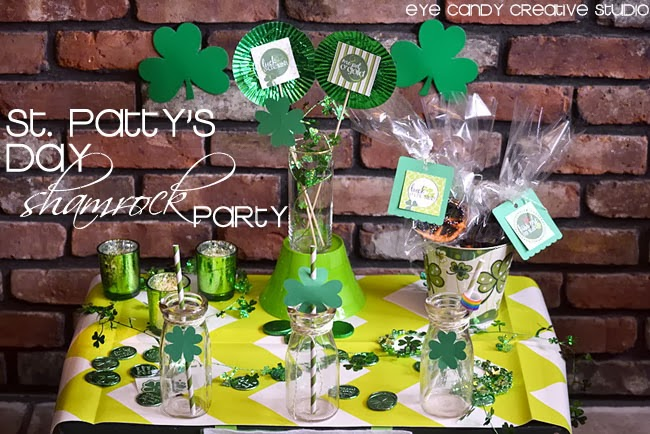 st pattys day party ideas, shamrock party, st pattys deay decor