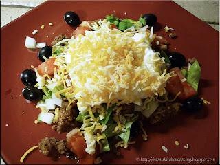 taco salad made using homemade taco seasoning