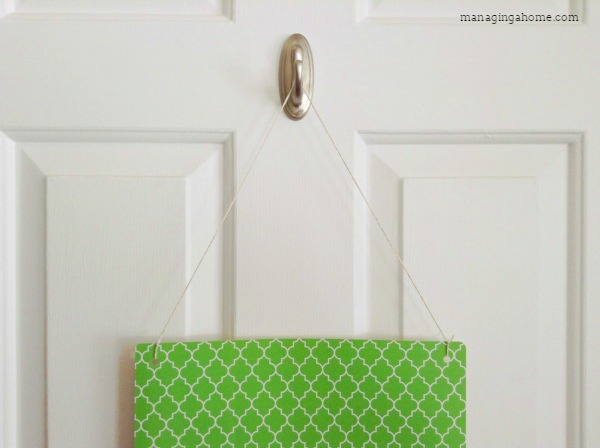 Mail Management for small spaces. No holes in the walls - easily removable.