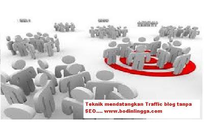 Cara mendatangkan Traffic Blog Tanpa SEO