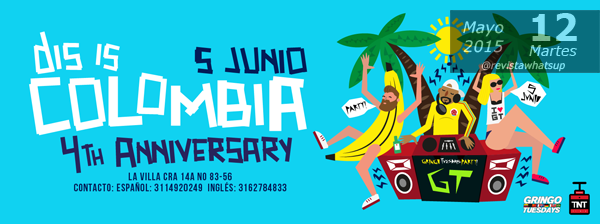 Celebra-fiesta-aniversario-Dis-is-Colombia-Gringo-Tuesdays