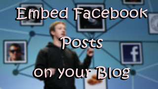 Embed Facebook Posts di Blogger
