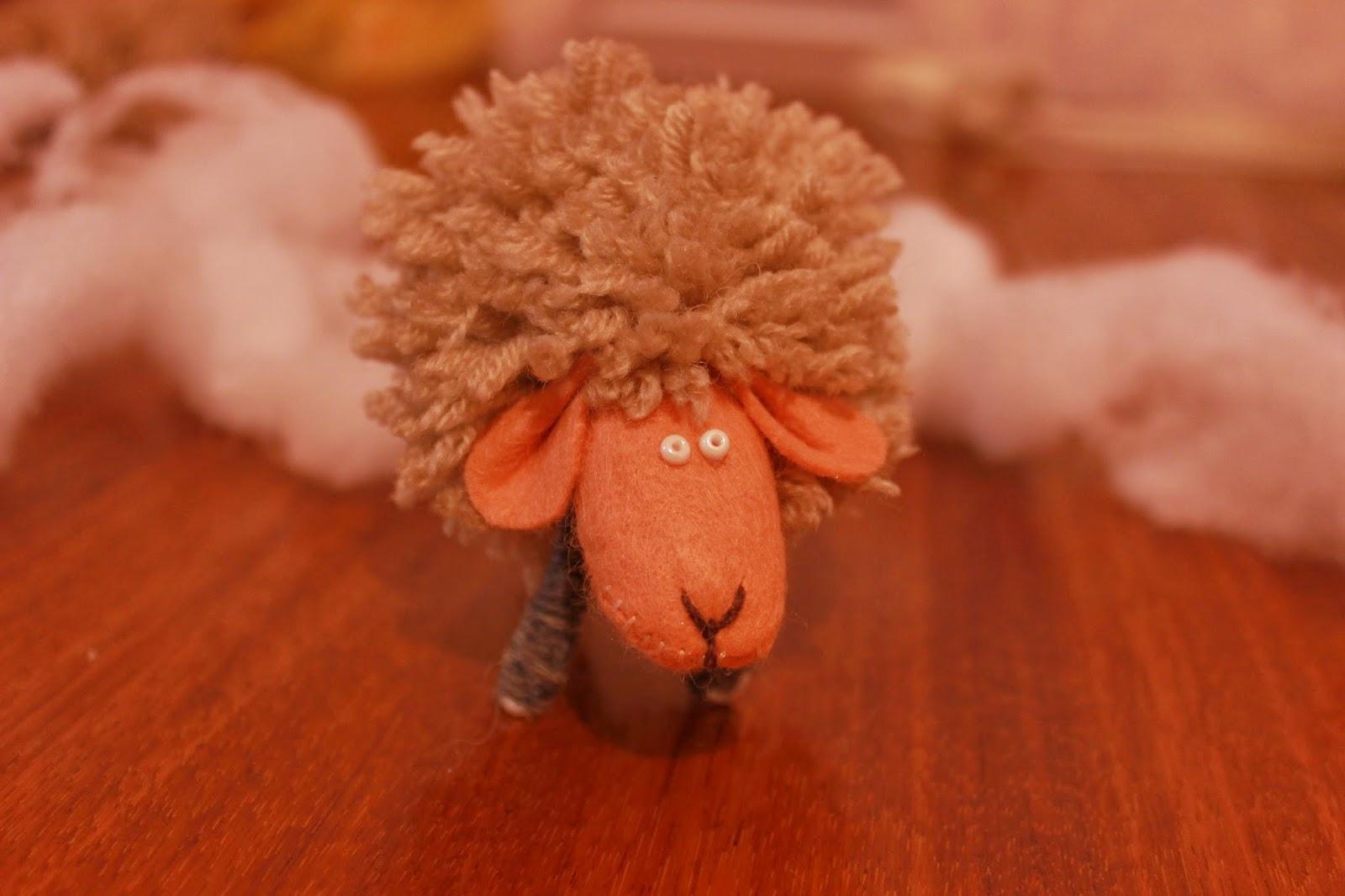 мастер-класс овечка, овца, коза, год овечки, год козы, символ года своими руками, настроение своими руками,хендмейд, овечка своими руками, мастерим с детьми