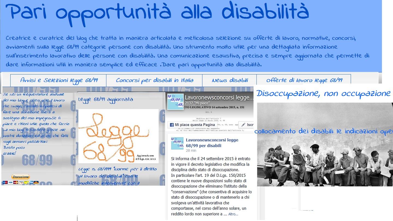 Pari Opportunità alla Disabilità