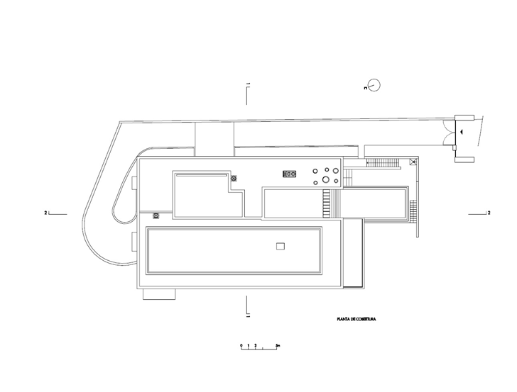 First floor plan of Modern Villa Escarpa by Mario Martins