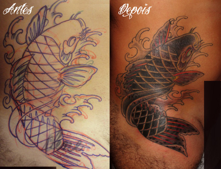 Tatuagem carpas for Mano mano carpas