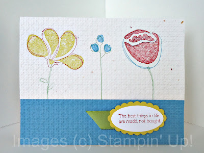 Greeting Card Awash With Flowers by Stampin' Up!