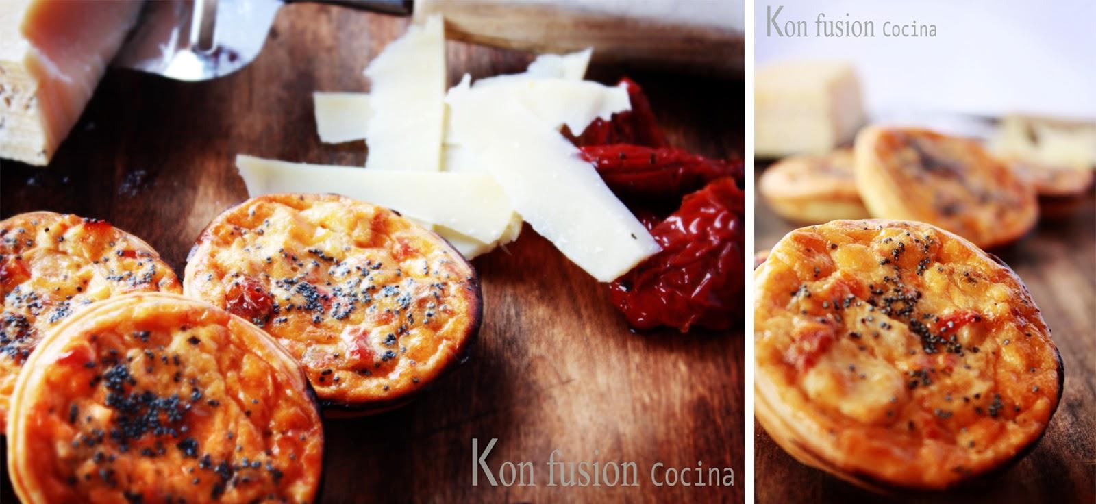 tartaleta queso italiano tomate