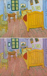Van Gogh paintings fade. He did like red. Blue not so much. Cheap pigments.