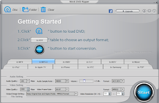 Download WinX DvD Ripper main screen Shot