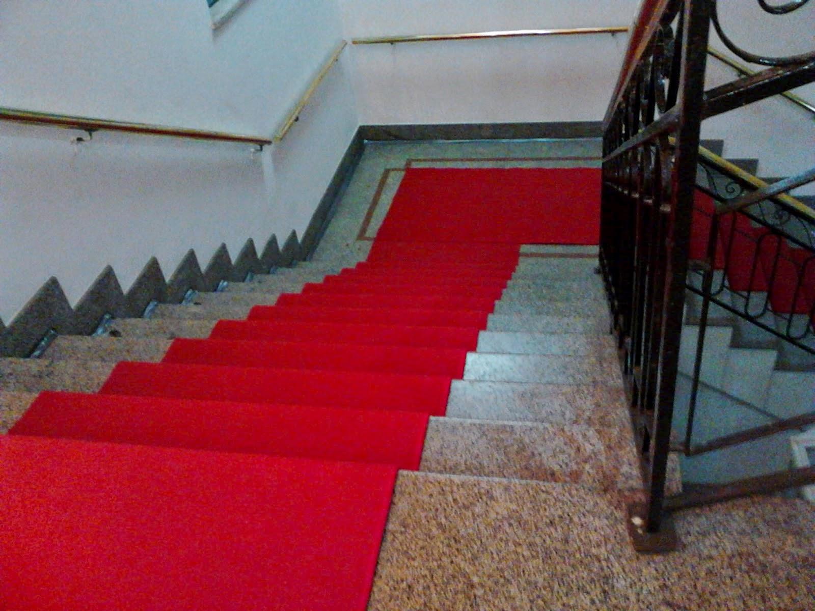 Alugamos tapete passadeira para colocar em escadas.