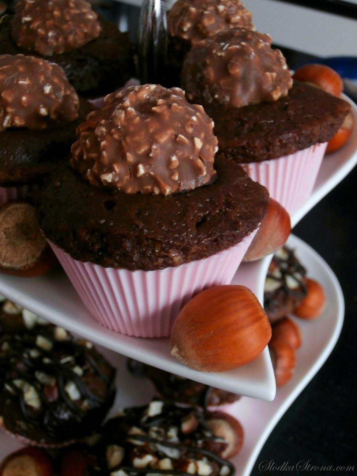 czekoladowo orzechowe babeczki