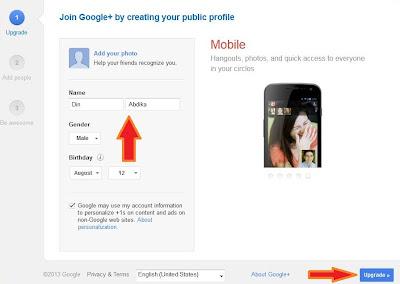 cara daftar google plus 2