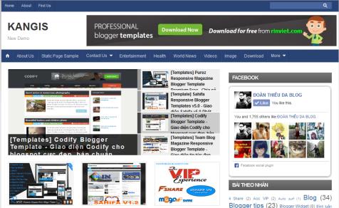 Kangis Magz - Template Blogspot tin tức, chuẩn Seo