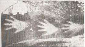 Lukisan di Dinding Gua (Sumber: Album Peninggalan Sejarah dan Purbakala)