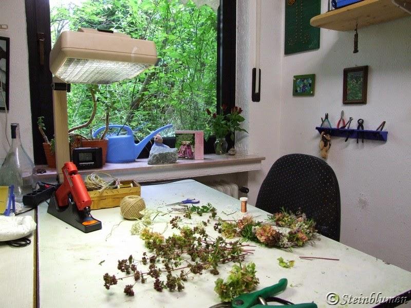 Blumenwerkstatt-Steinblumen