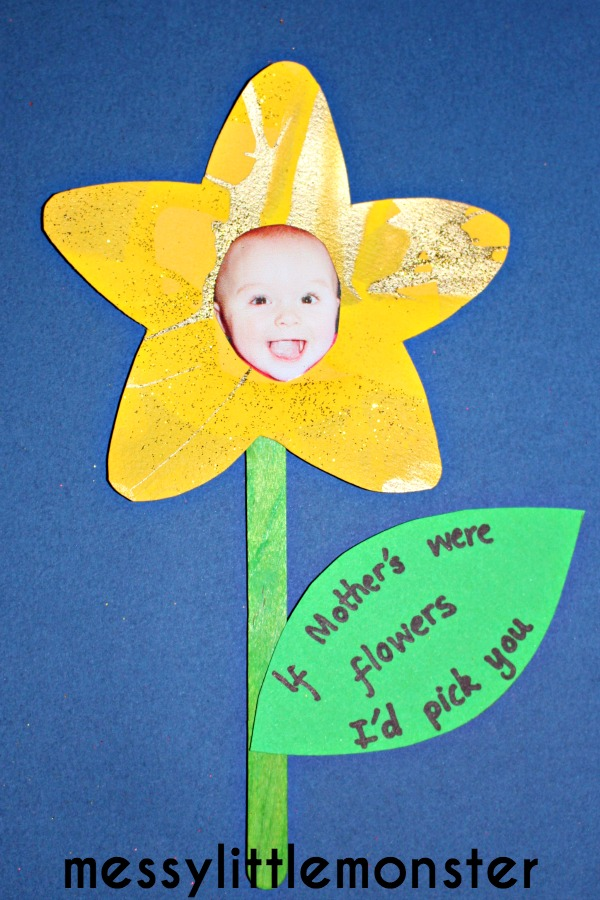 Messy little monster spring flower craft if mothers for Mothers day art for preschoolers