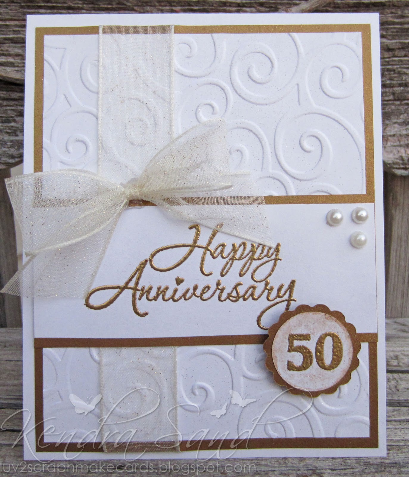 Luv scrap n make cards th anniversary