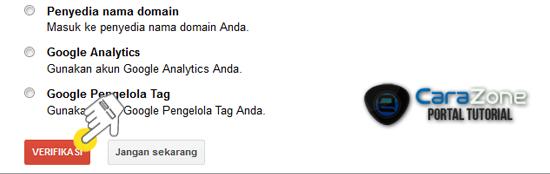 Cara Daftar dan Verifikasi Blog Tumblr di Google Webmaster