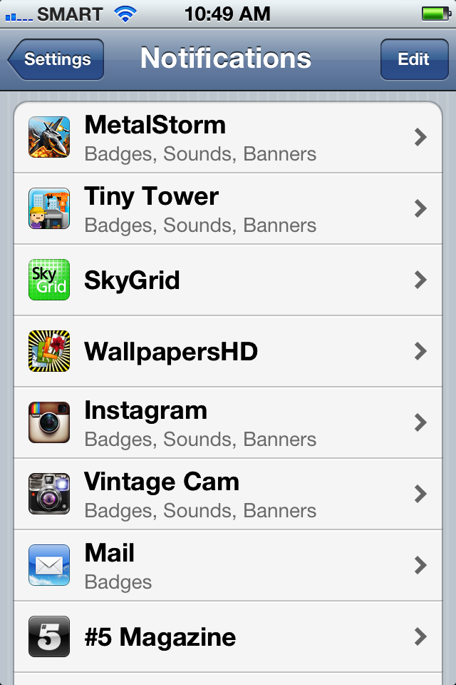 How to Customize Notification Center in iPhone 4S