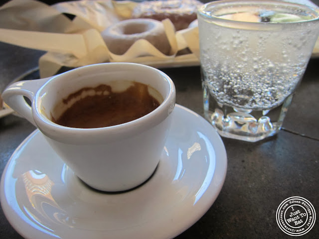 image of espresso at Doughnut Plant in NYC, New York