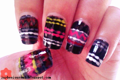 Black Tribal Jumper Nails