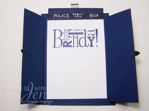 stamp it with Jen Doctor Who Birthday Card – Happy Birthday Card for Doctor