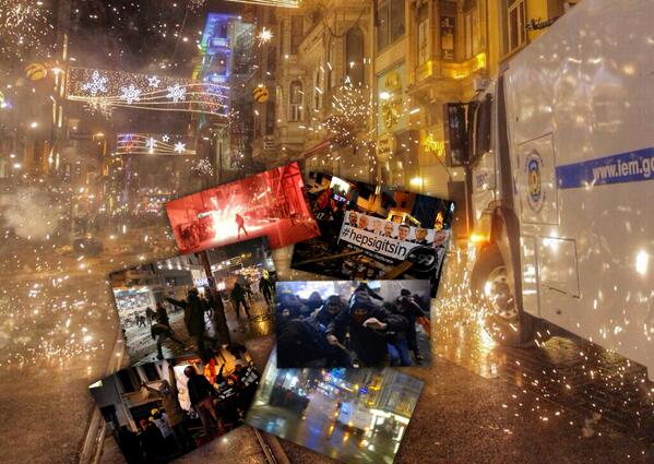 İstiklal Caddesi Eylem Protesto Direniş