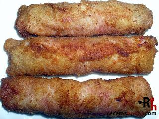 Rollitos de jamón con atún - Final