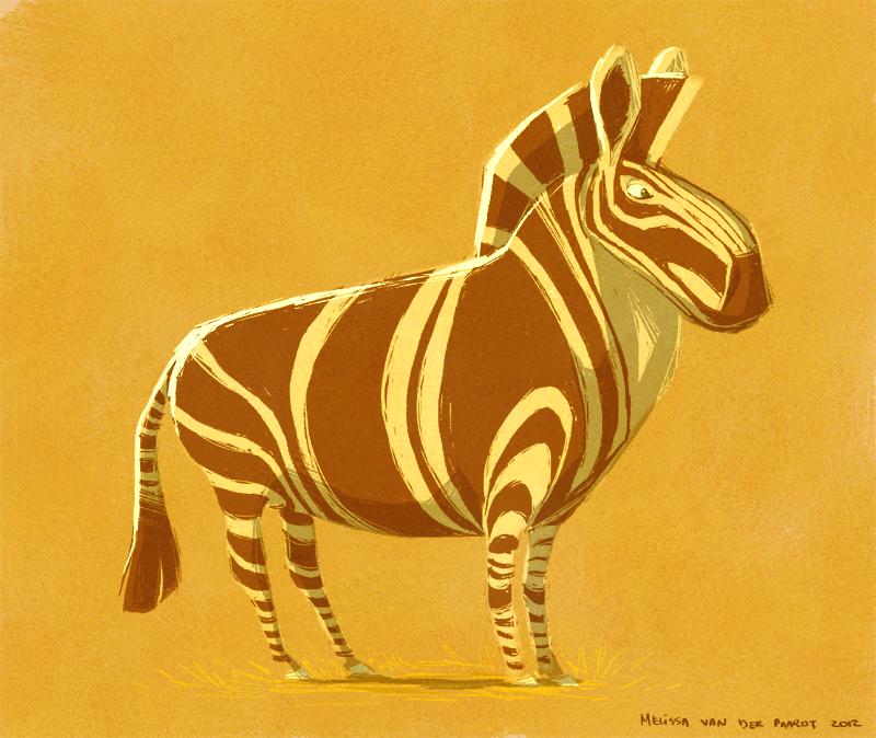 Zebra Character Design : Sketchin thoughts the art of melissa van der paardt zebra