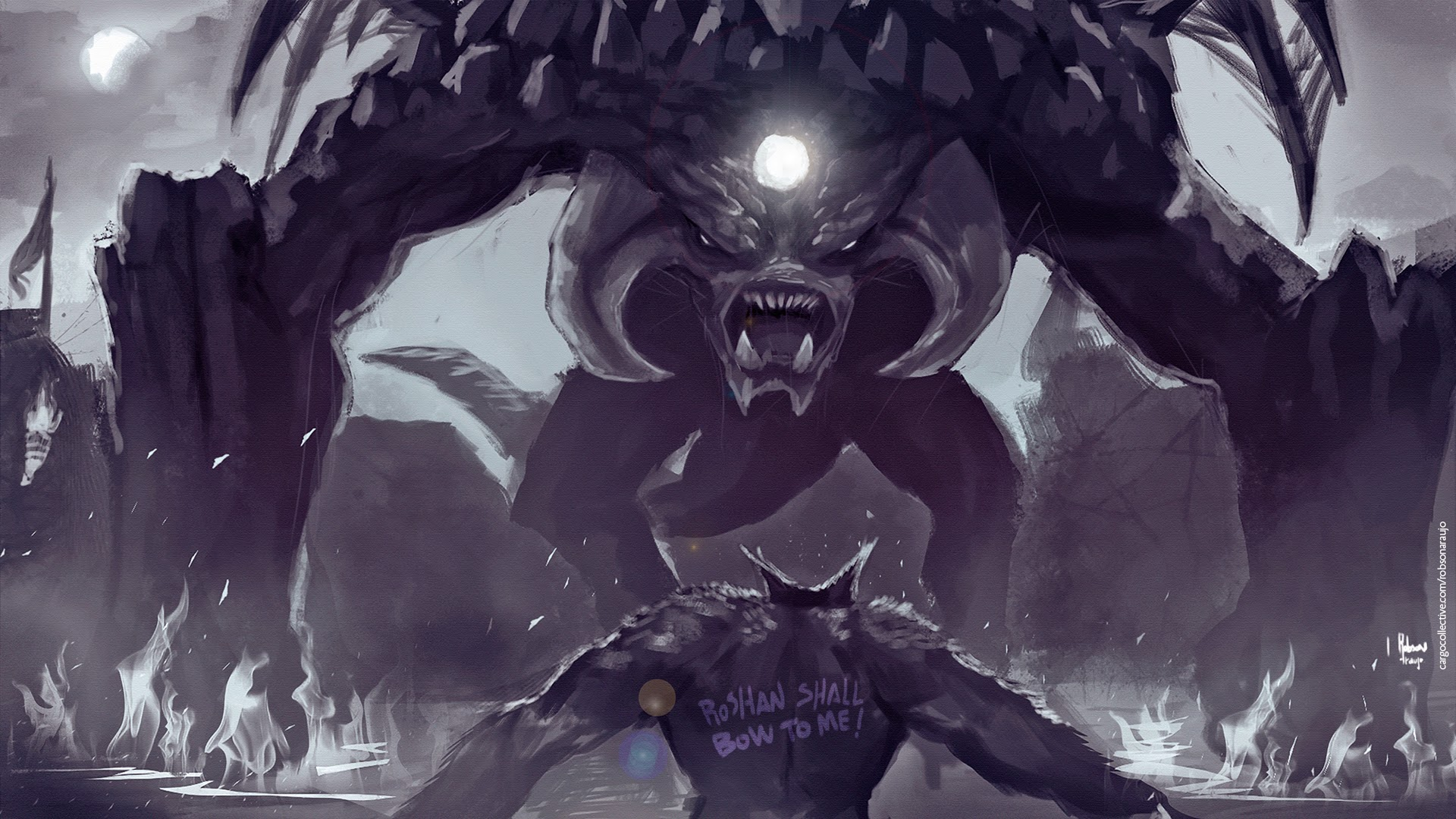 Ursa vs Roshan Dota 2 Art w8 Wallpaper HD