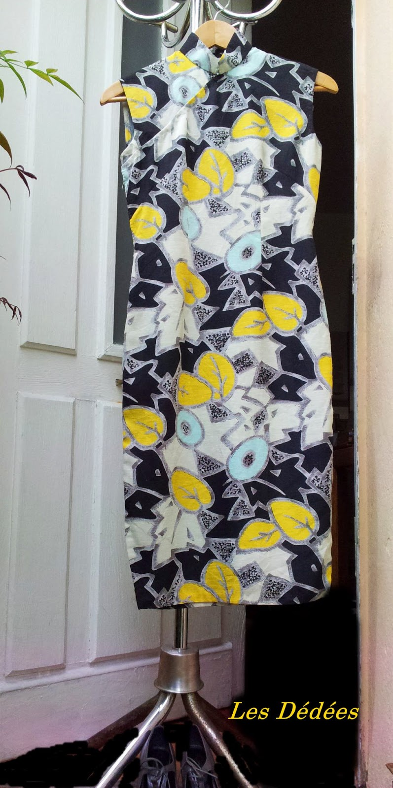 les dedees vintage recup creations robe vintage 50 39 s 60 39 s style chinoise mademoiselle. Black Bedroom Furniture Sets. Home Design Ideas