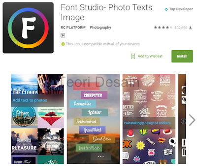 Font Studio - Photo Texts Image