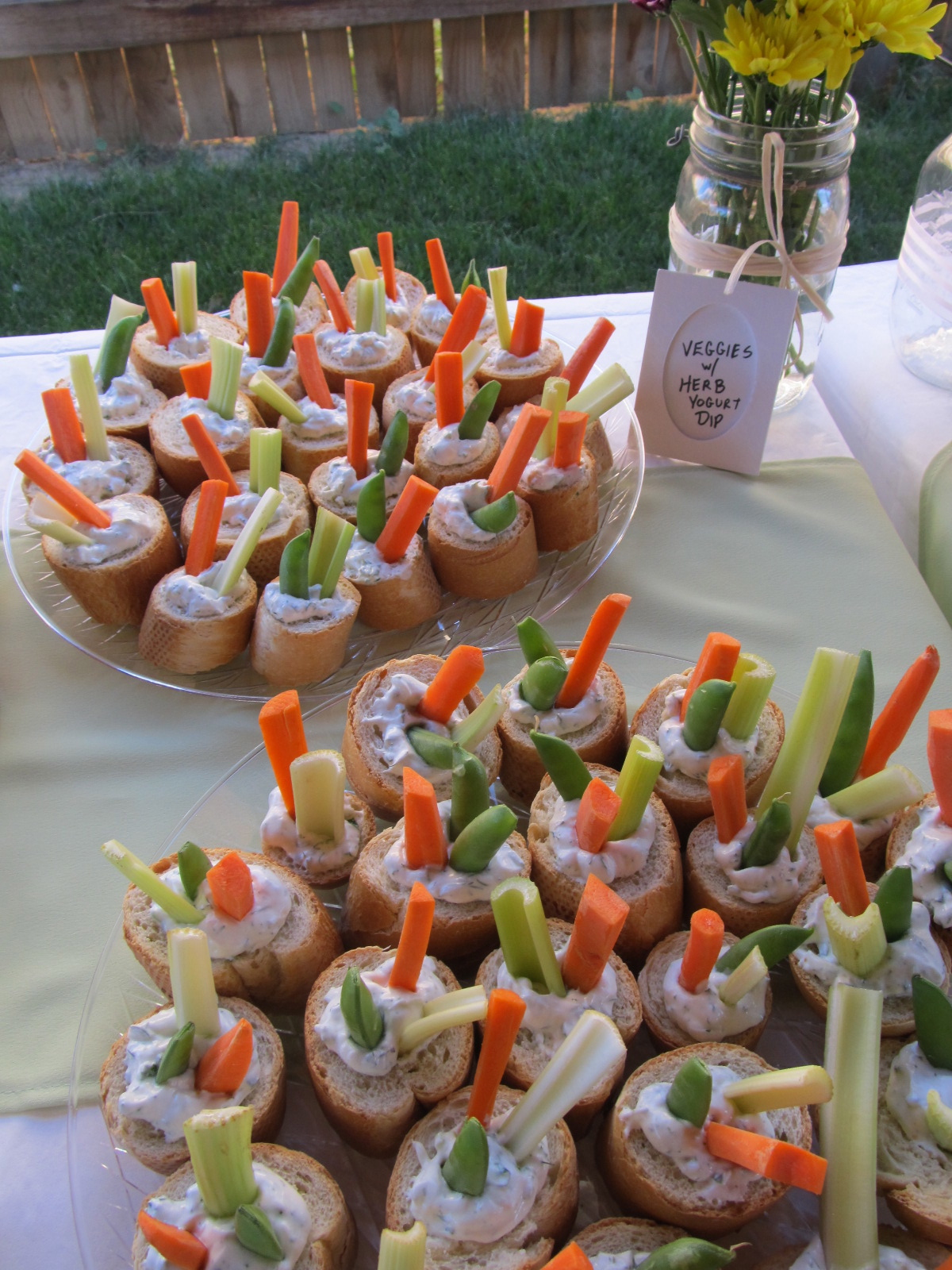 Baby Shower Food Ideas ~ Sauce on the wall more food for a party