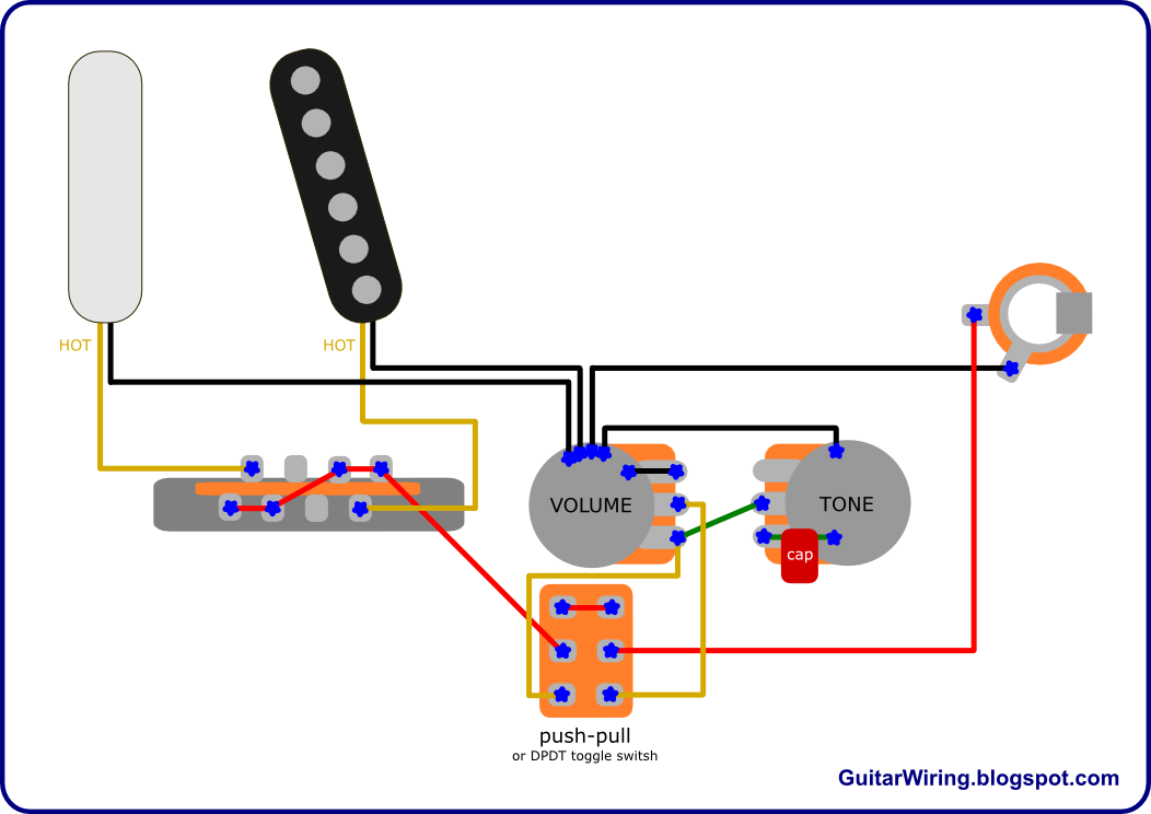 telecasterdirect the guitar wiring blog diagrams and tips telecaster direct push-push pot wiring diagram at fashall.co