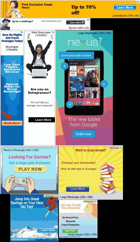 मोबाइलटिप्सट्रिक विज्ञापन का आकार देखे