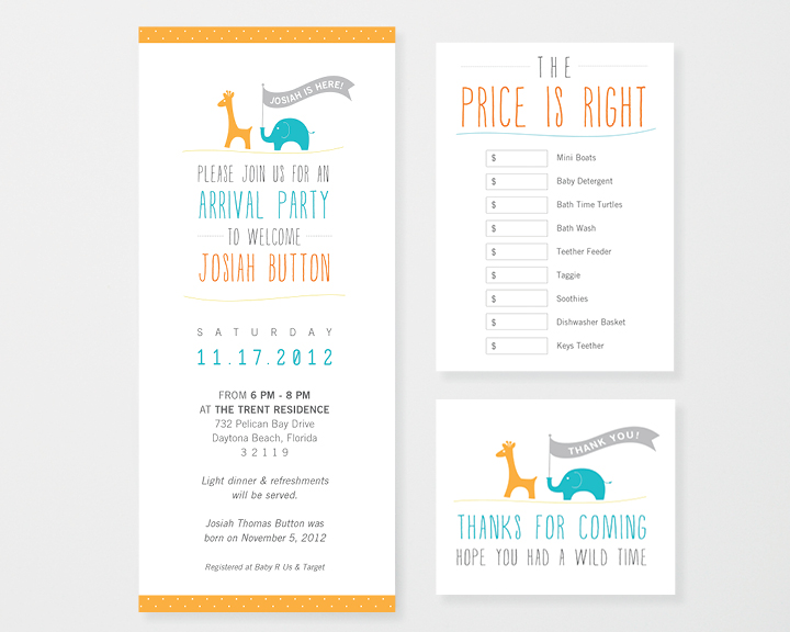 Kimberly Church || Arrival Party Invitation