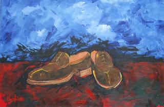 Clameli - Par de Sapatos - Acrílico s/ tela