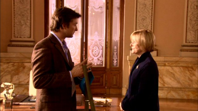Noah Wyle and Jane Curtin