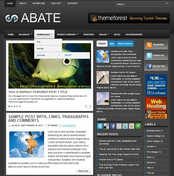 Abate Blogger Template