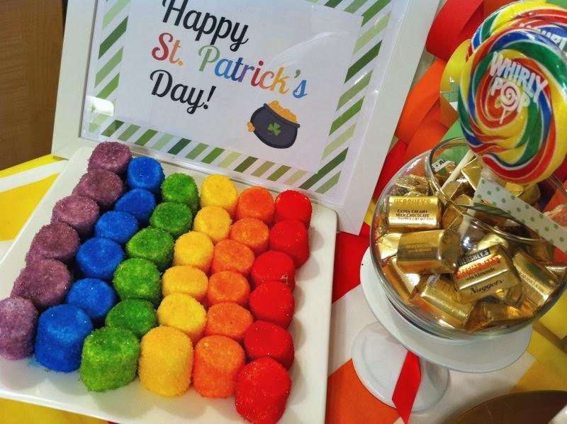 Rainbow Sugared Marshmallows