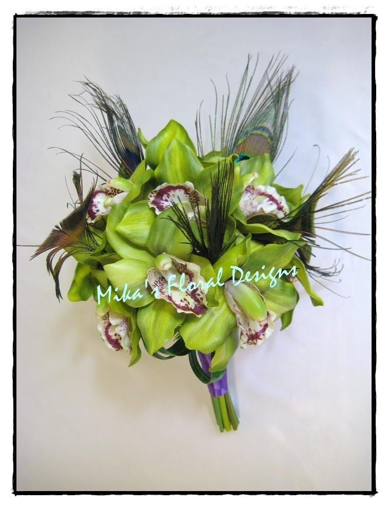 Artificial Wedding Flowers and Bouquets Australia Latex Green Orchid and
