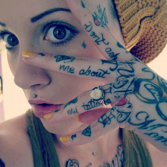 Hand Tattoos Writing N writing hand tattoos