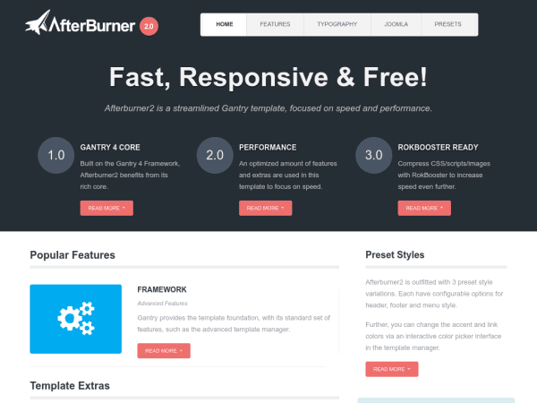 Afterburner2 Joomla Business Templates