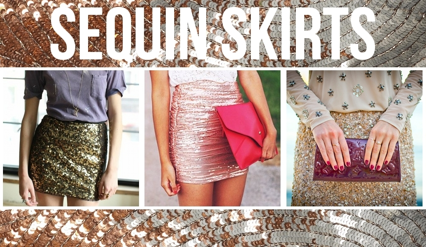 Sequin Bodycon and Skater Skirts