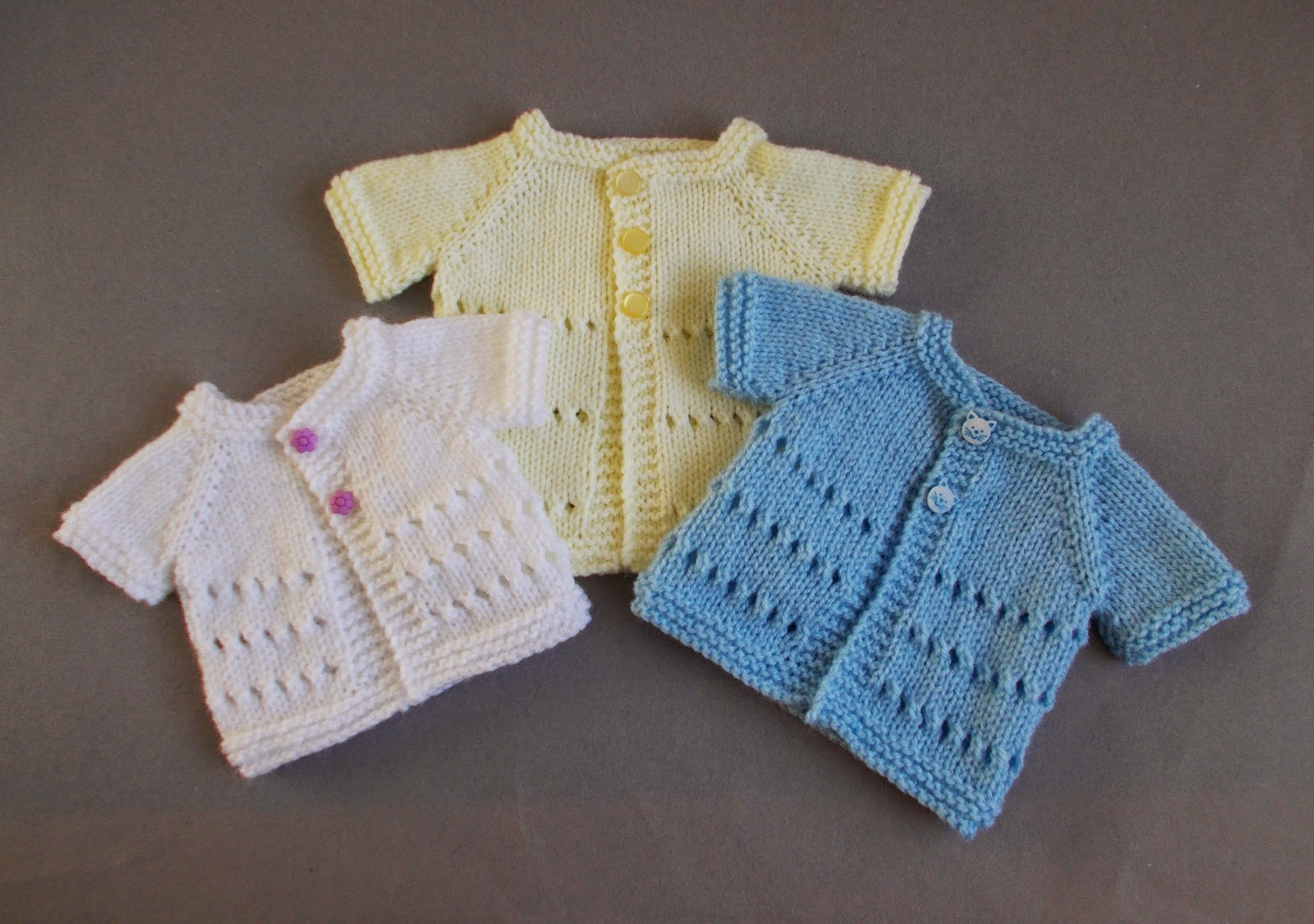 Marianna\'s Lazy Daisy Days: Little Jay ~ Premature Baby Cardigan Jacket