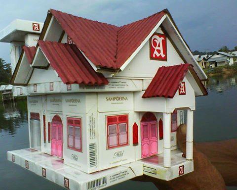 Kreasi Kerajinan Tangan Membuat Rumah Miniatur Dari ...