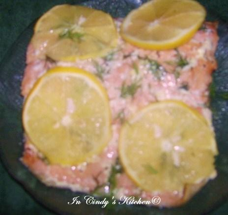 In Cindy's Kitchen: Salmon with Garlic, Lemon, & Dill